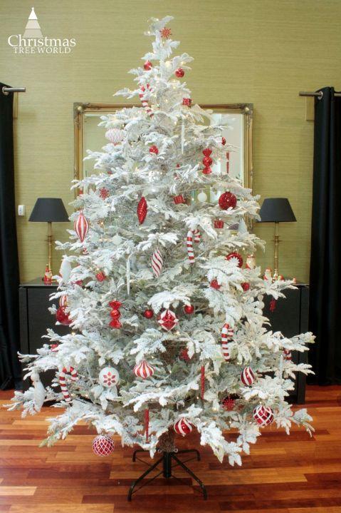 The 7ft Snowy Fern Tree Snowy Christmas Tree Tree Christmas Tree Bag