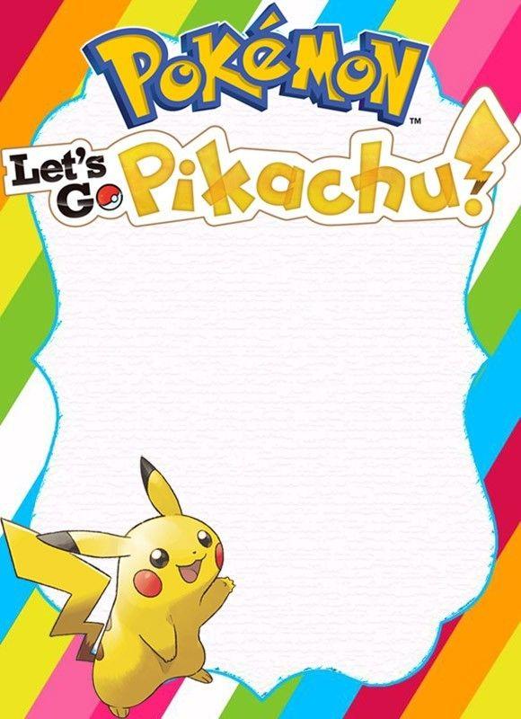 Free Pikachu Birthday Party Invitation Template Pokemon Invitations Party Invite Template Birthday Party Invitation Templates