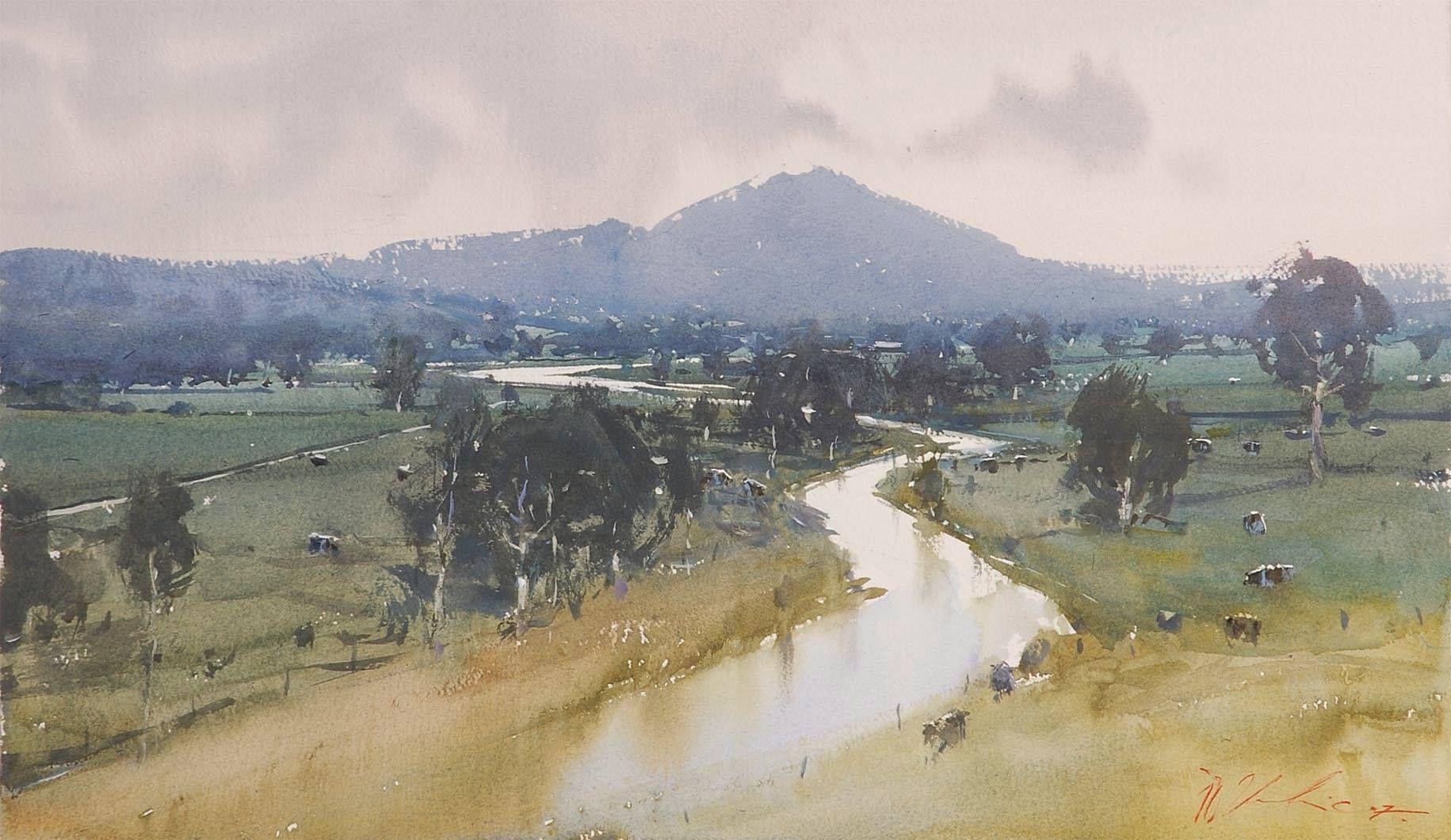 Joseph Zbukvic B 1952 Australia Watercolor Joseph Zbukvic