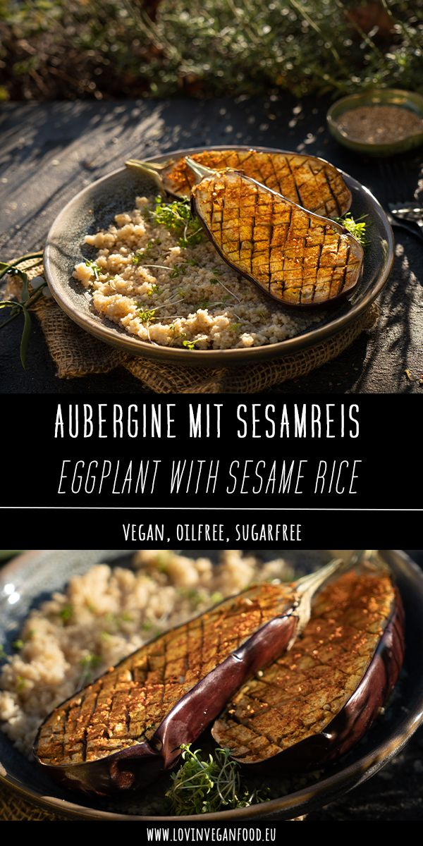 Eggplant with Sesame Rice #abendessenschnell