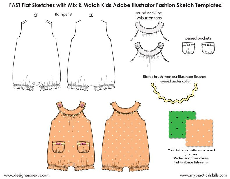 wwwmypracticalskills store kids-illustrator-flat - fashion designer templates