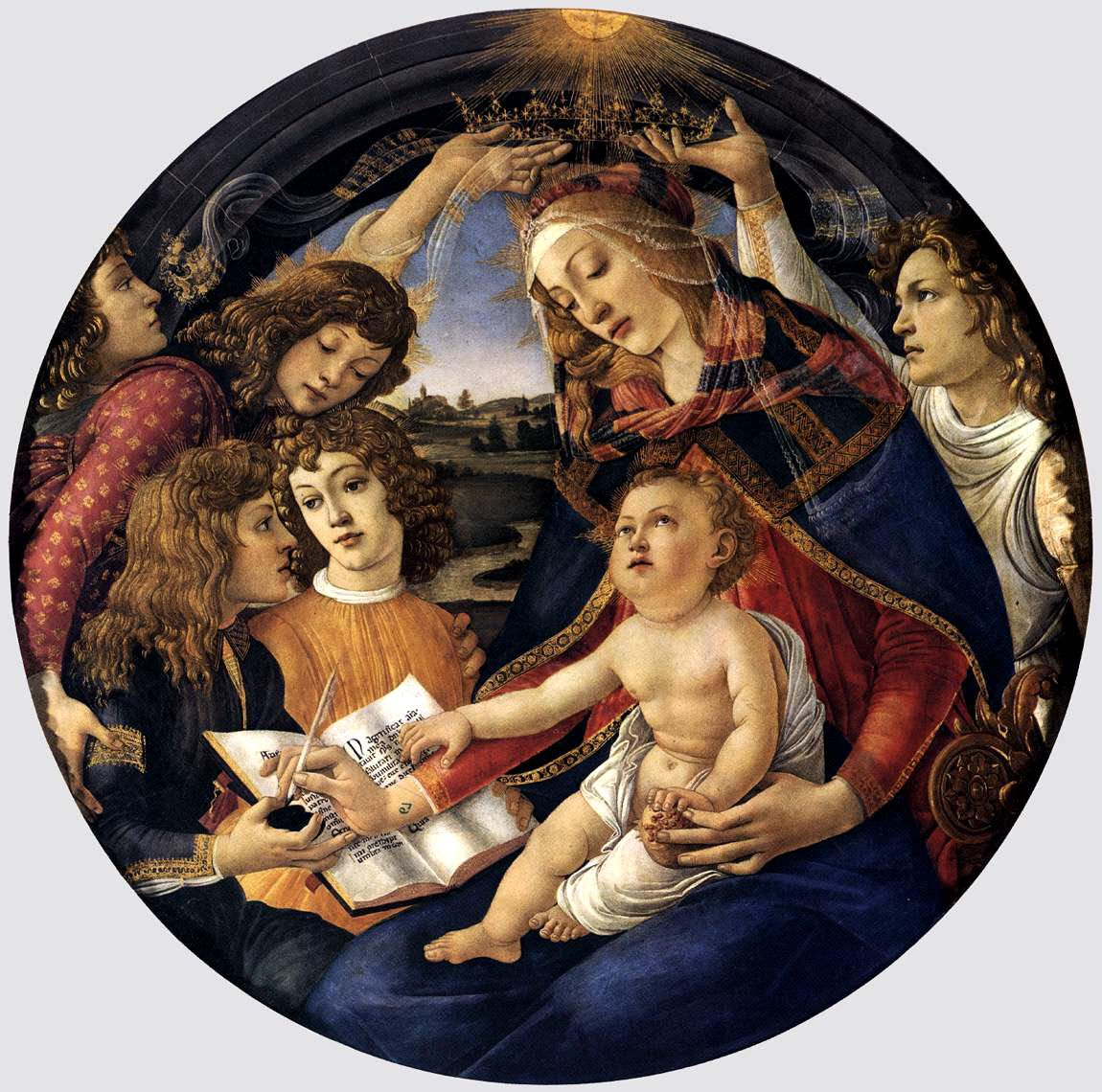 The most beautiful Madona ever painted: Madonna del Magnificat, Sandro Botticelli, Galleria degli Uffizi, Firenze http://en.wikipedia.org/wiki/Madonna_of_the_Magnificat