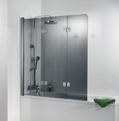 pare baignoire premium softcube en 3 volets salle de. Black Bedroom Furniture Sets. Home Design Ideas