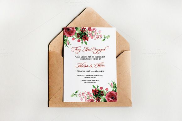 Engagement Invite Templates Simple Engagement Party Invitation Template  Pinterest  Party Invitation .