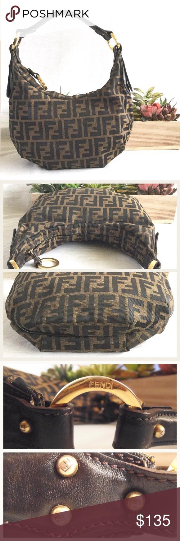 404c4f2898a Vintage Fendi Zucca Hobo Bag Authentic vintage Fendi hobo. Measures about  11