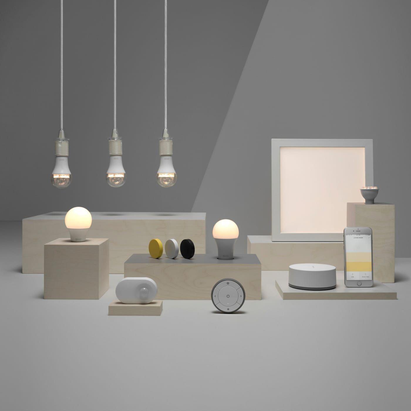 Smart Home Beleuchtung Mit Tradfri Dispositivosinteligentes Smart Lighting Smart Bulbs Smart Bulb