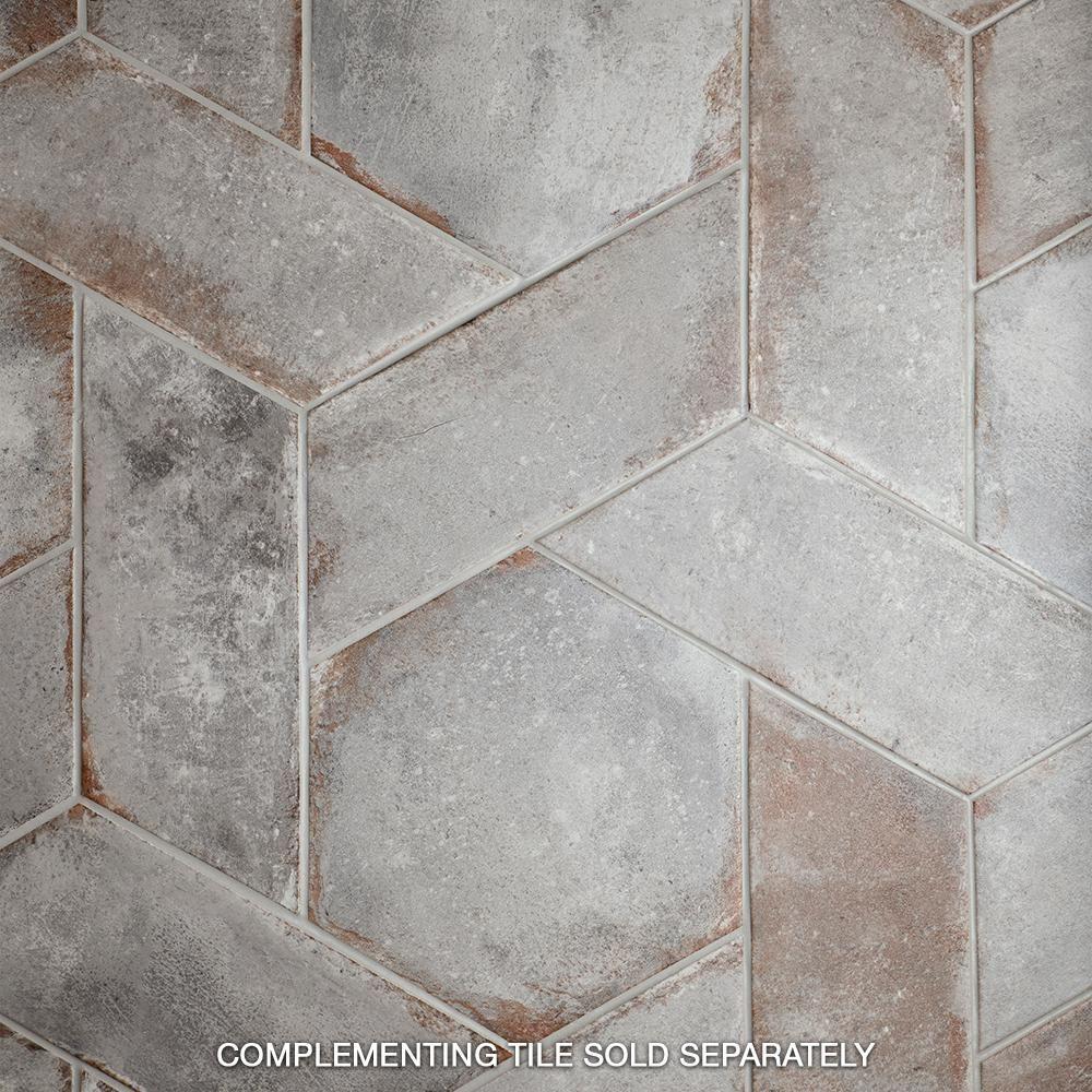 Merola Tile D Anticatto Hex Grigio 11 In X 12 5 8 In Porcelain Floor And Wall Tile 11 22 Sq Ft Case Fnudaxgr The Home Depot In 2020 Tile Floor Porcelain Flooring Brick Flooring