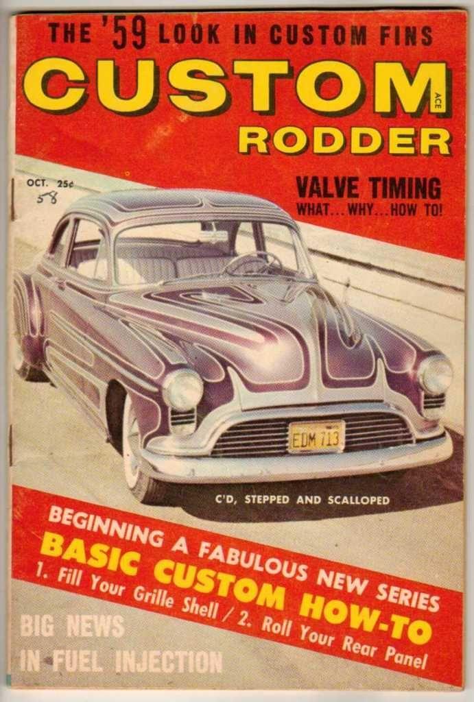 Custom Rodder October 1958 Old Vintage Car Magazine Classic Hot ...