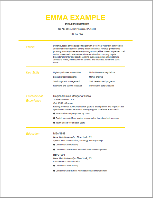 Simple Colorful Resume Template Job Resume Template Best Resume