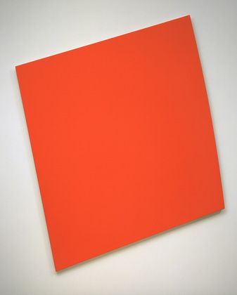 Red-Orange Panel with Curve Ellsworth Kelly (American, born 1923)  1993. Oil on canvas, 8 8 x 7 3 1/2 (269.4 x 222.5 cm). Gift of the Committee on Painting and Sculpture in honor of Richard E. Oldenburg. © 2013 Ellsworth Kelly