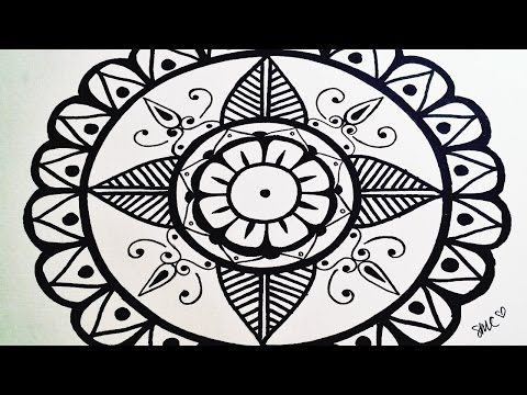Mandala Draw A Very Simple Mandala For Beginners Step By Step