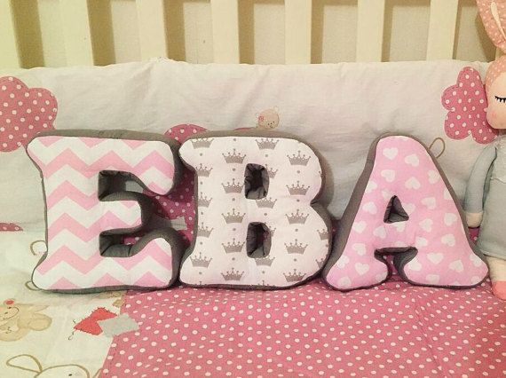 Baby Name Made Into Pillows Customized Alphabet Gift Word From