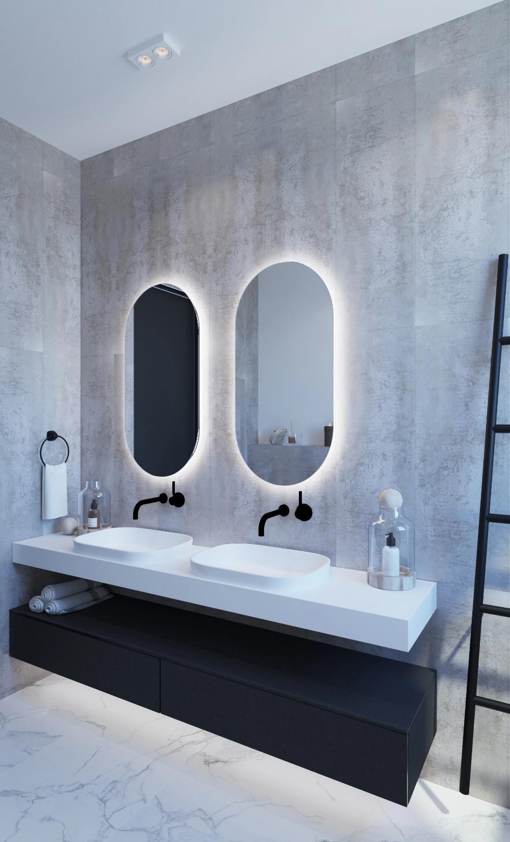 Ablaze Luminous Oval Backlit Bathroom Mirror Shine Mirrors Australia Backlit Bathroom Mirror Bathroom Mirror Round Mirror Bathroom
