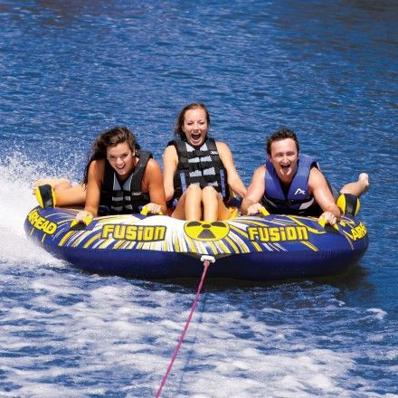 Cockpit Style Towables Are Great For Small Children Because They Feel Secure Sitting Inside Teenagers Love The Inflatable Water Park Boat Tubes Towable Tubes