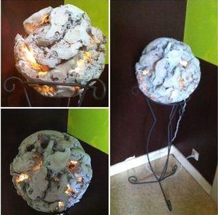 Lampe luminaire récup recyclage esprit atelier insutriel ...