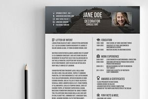 Popular Resume Templates  Creative Market  Marketing