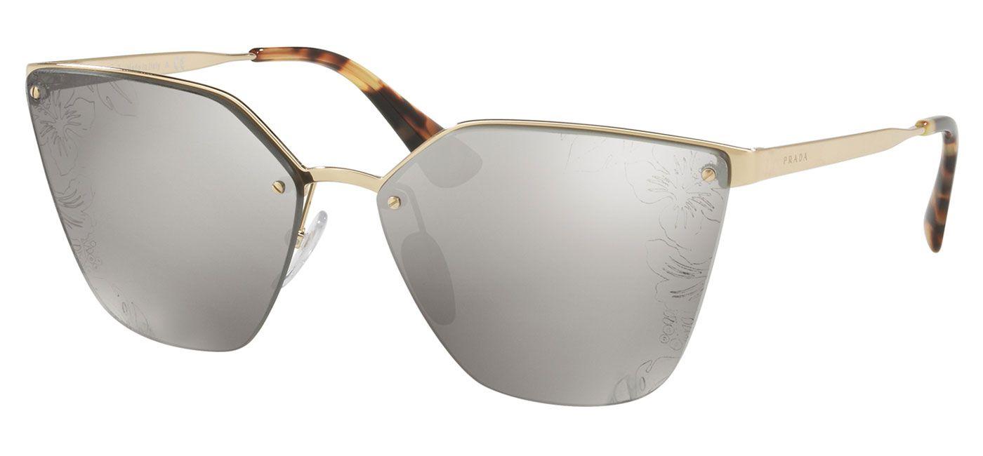 7e05f5990f16 Prada PR68TS Sunglasses - Pale Gold / Brown Gradient Mirror - Tortoise+Black