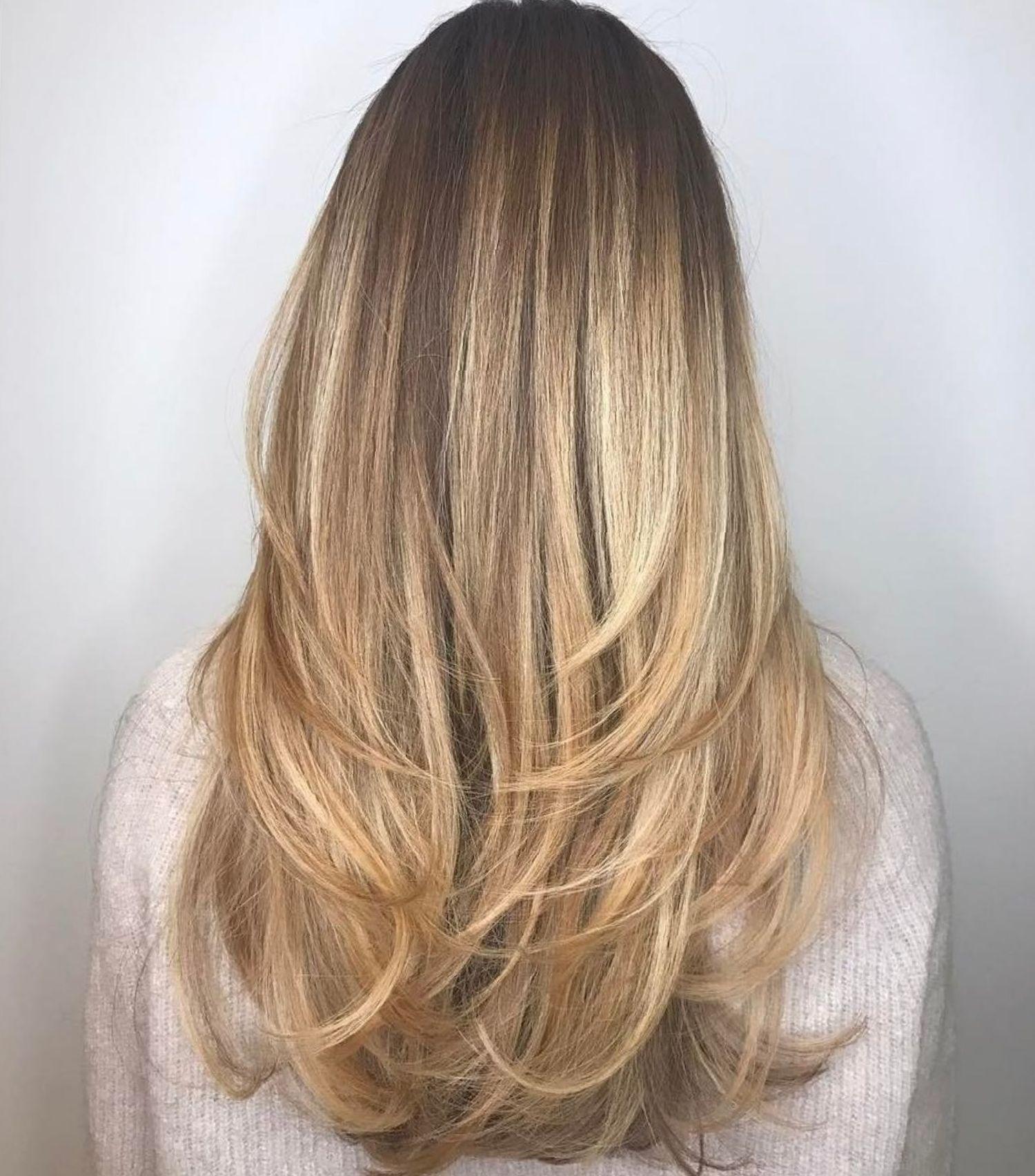 Long Haircut With Angled Layers Long Layered Haircuts Thick Hair Styles Long Layered Hair