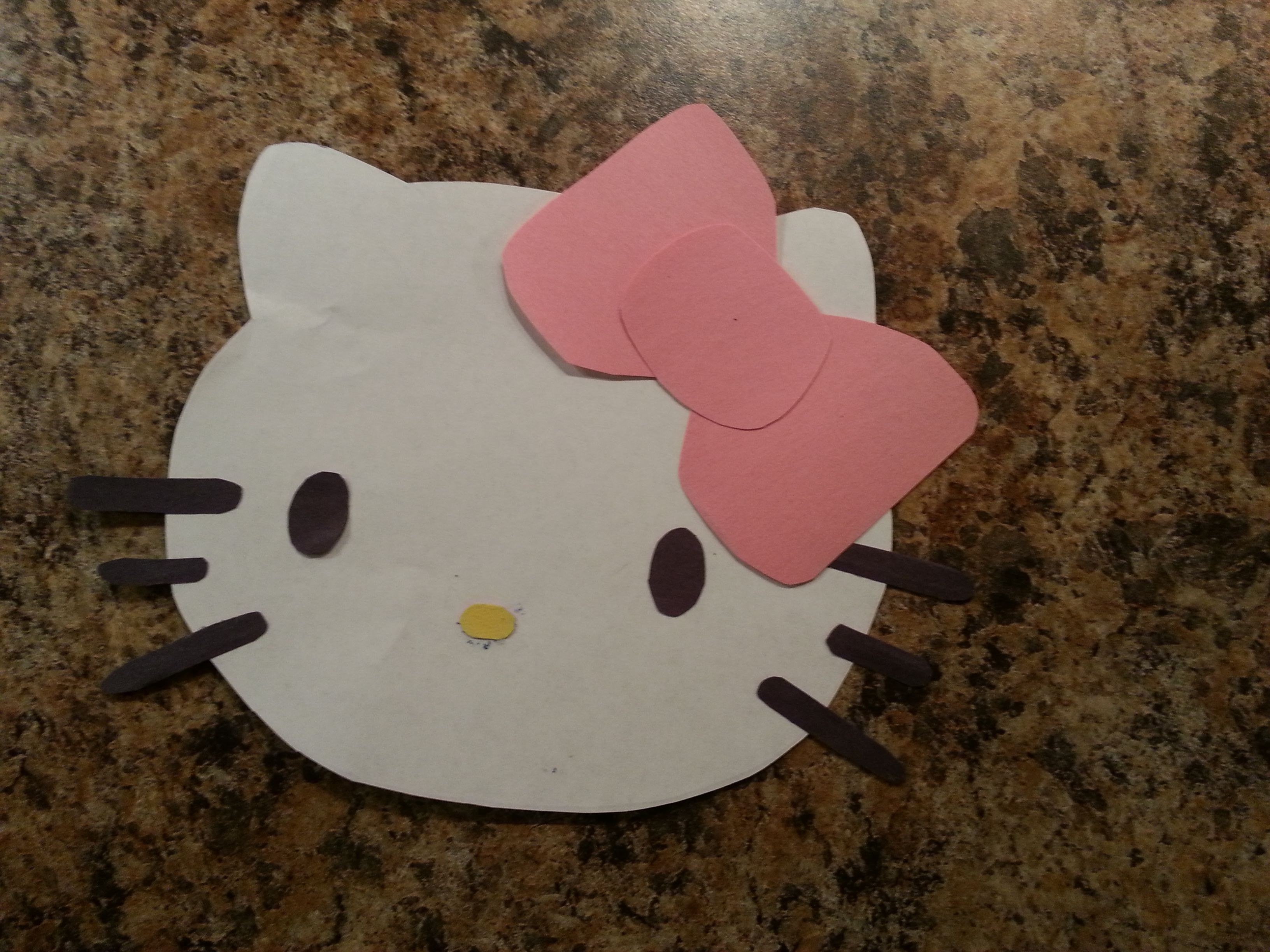 Hello Kitty Kids Craft I Made These For My Daughter S 4th Birthday