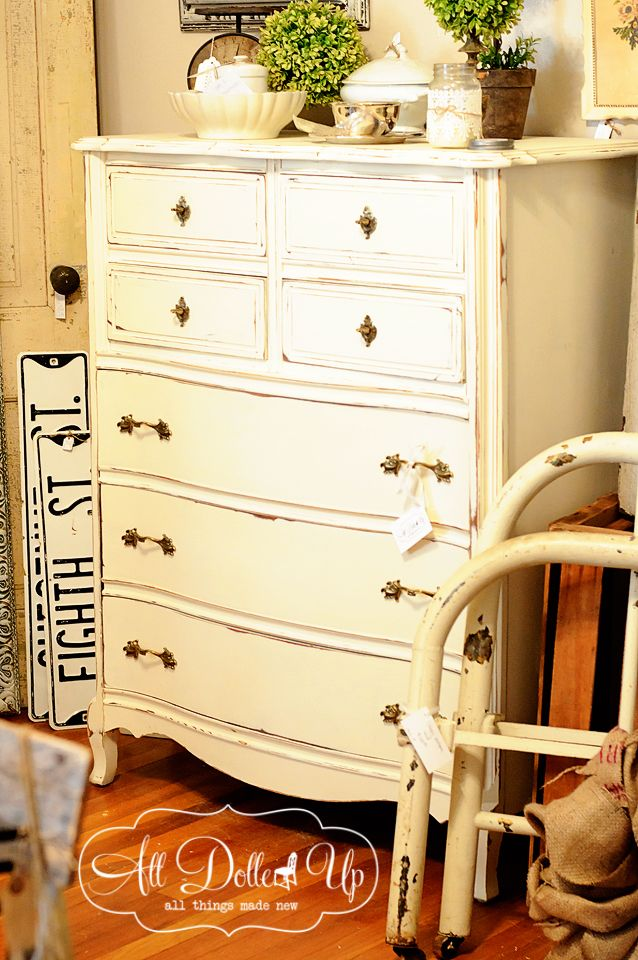 Gorgeous milk paint dresser by @All Dolled Up