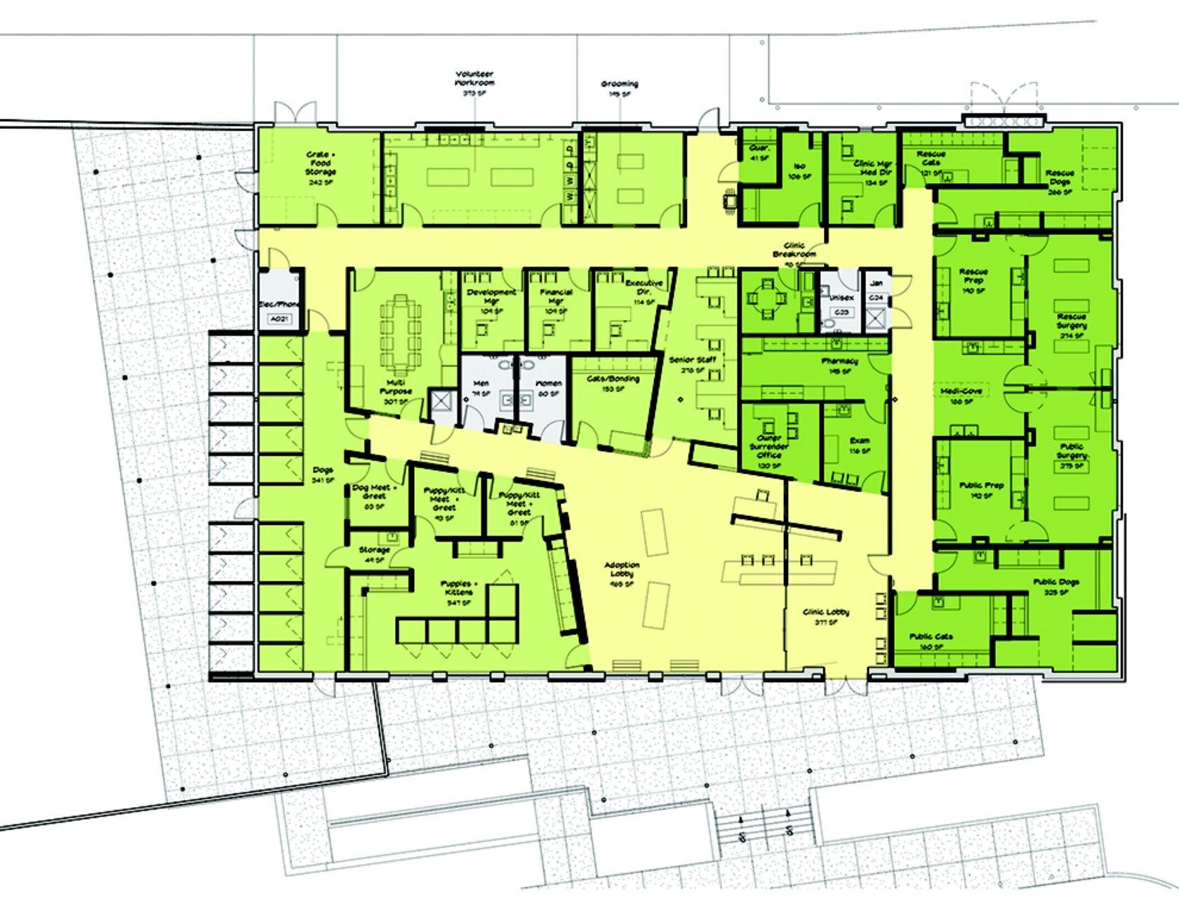 Greenville Humane Society Floor Plan