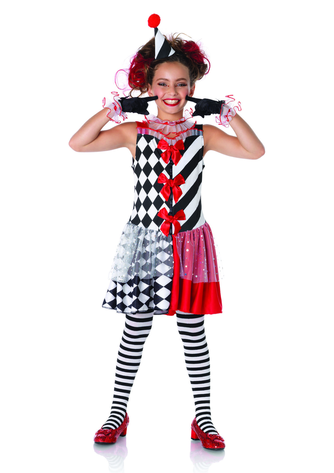 this harlequin child's costume can be both cute and scary! found at