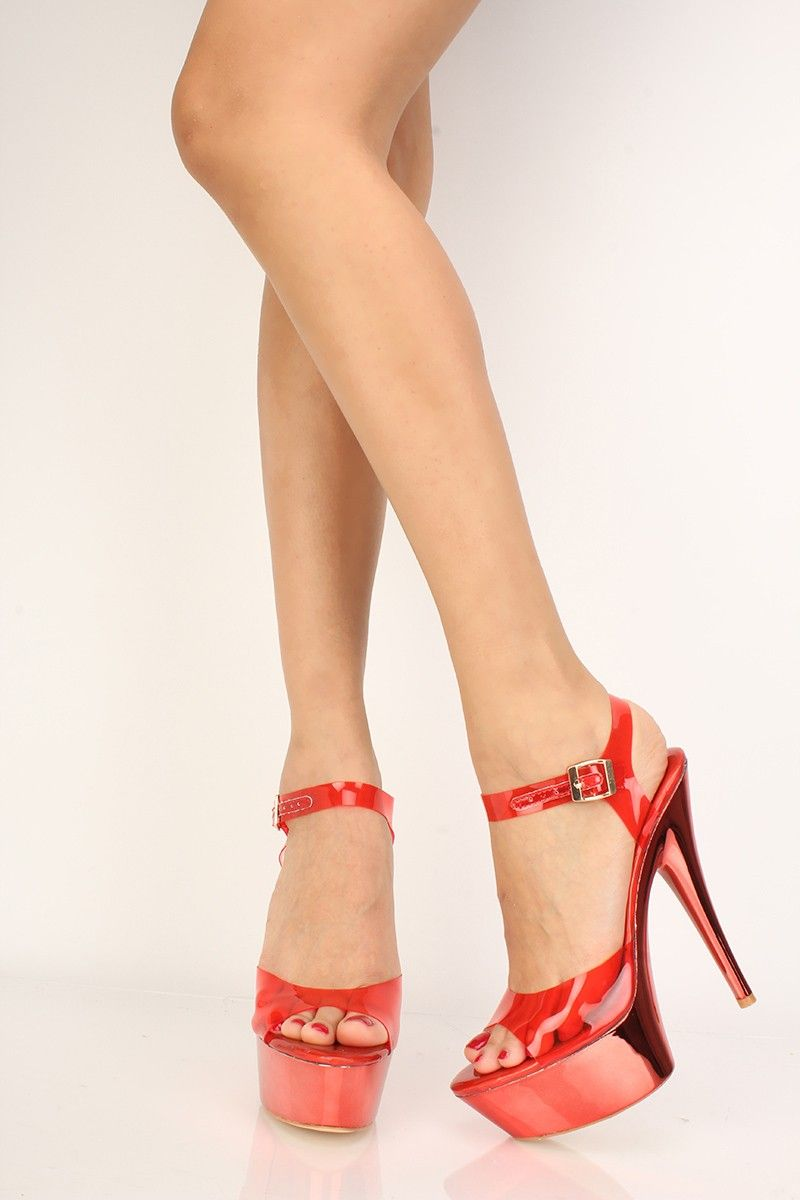 01eb0b65e80a Buy Red Mirrored Platform 6 Inch Heels with cheap price and high quality  Heel Shoes online store which also sales Stiletto Heel Shoes