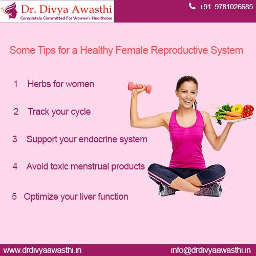 Healthy reproductive system women health