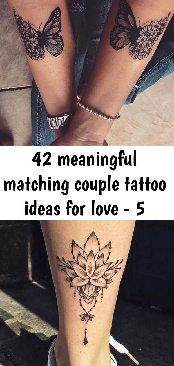 Matching couple tattoo, love tattoo for couple, small