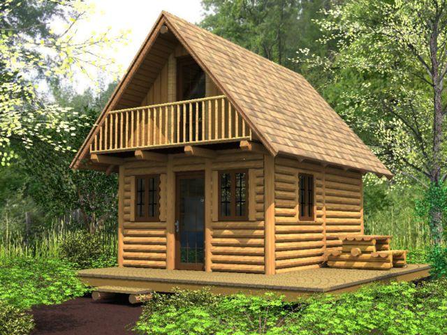 petit chalet bois rond maisons a