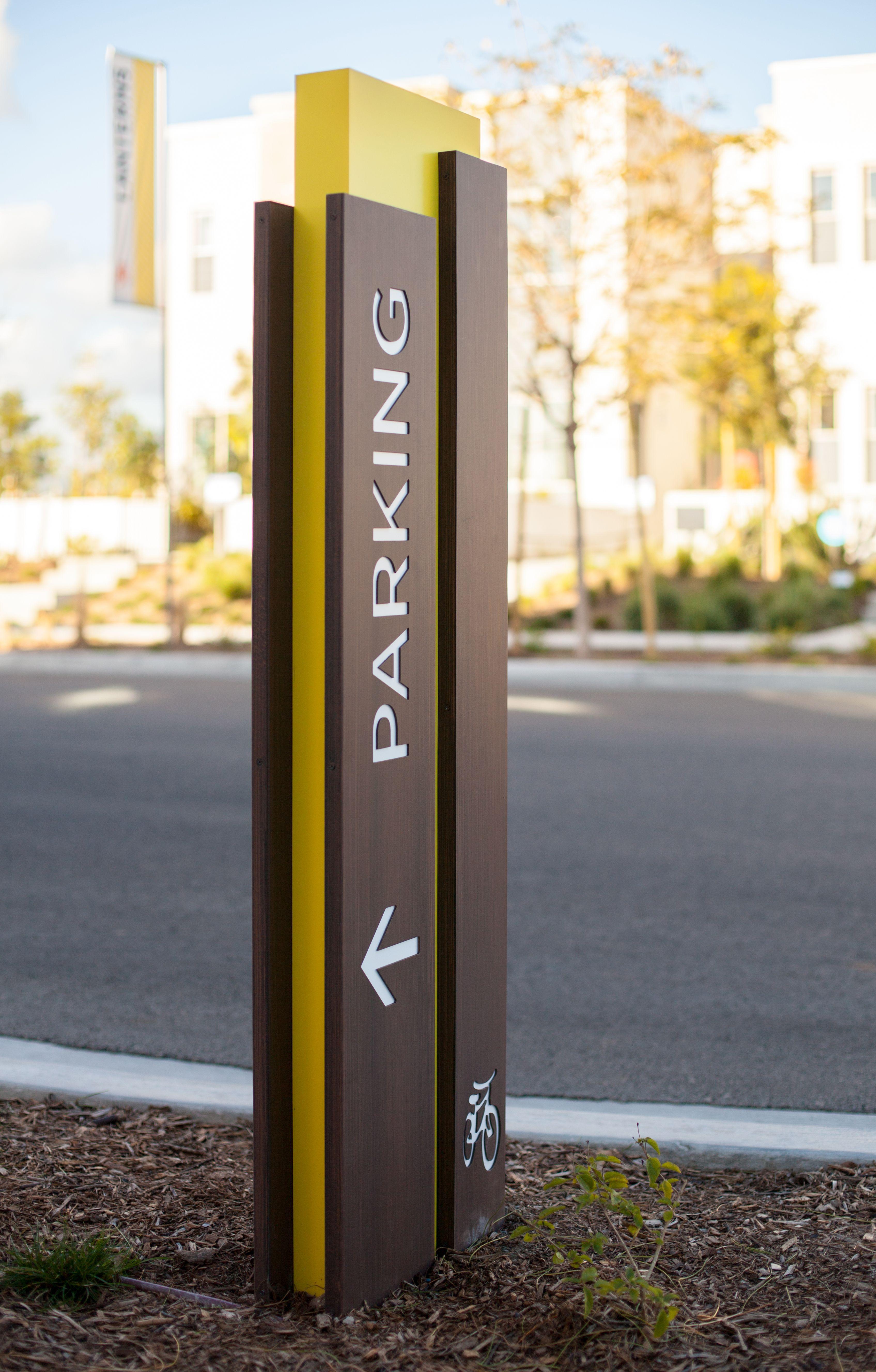 Parasol Park Portfolio With Images Wayfinding Signage Design