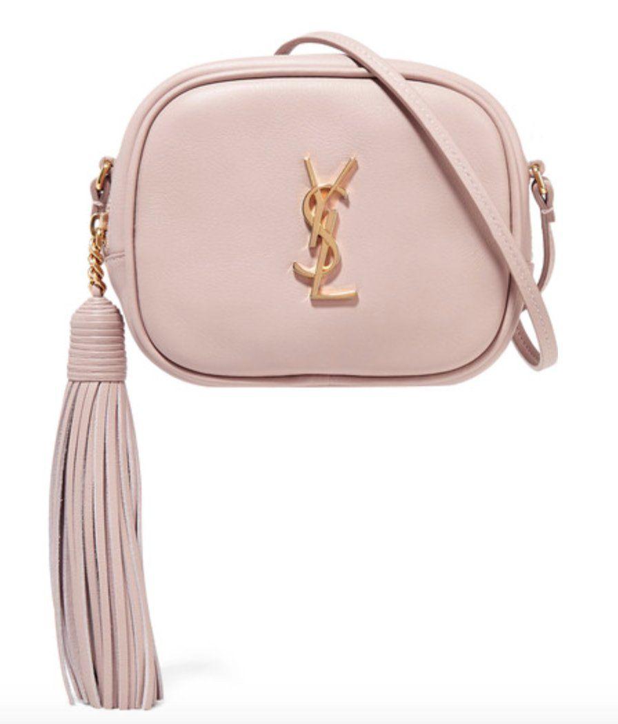 Saint Laurent Blush Pink Blogger Bag Style Pink Shoulder