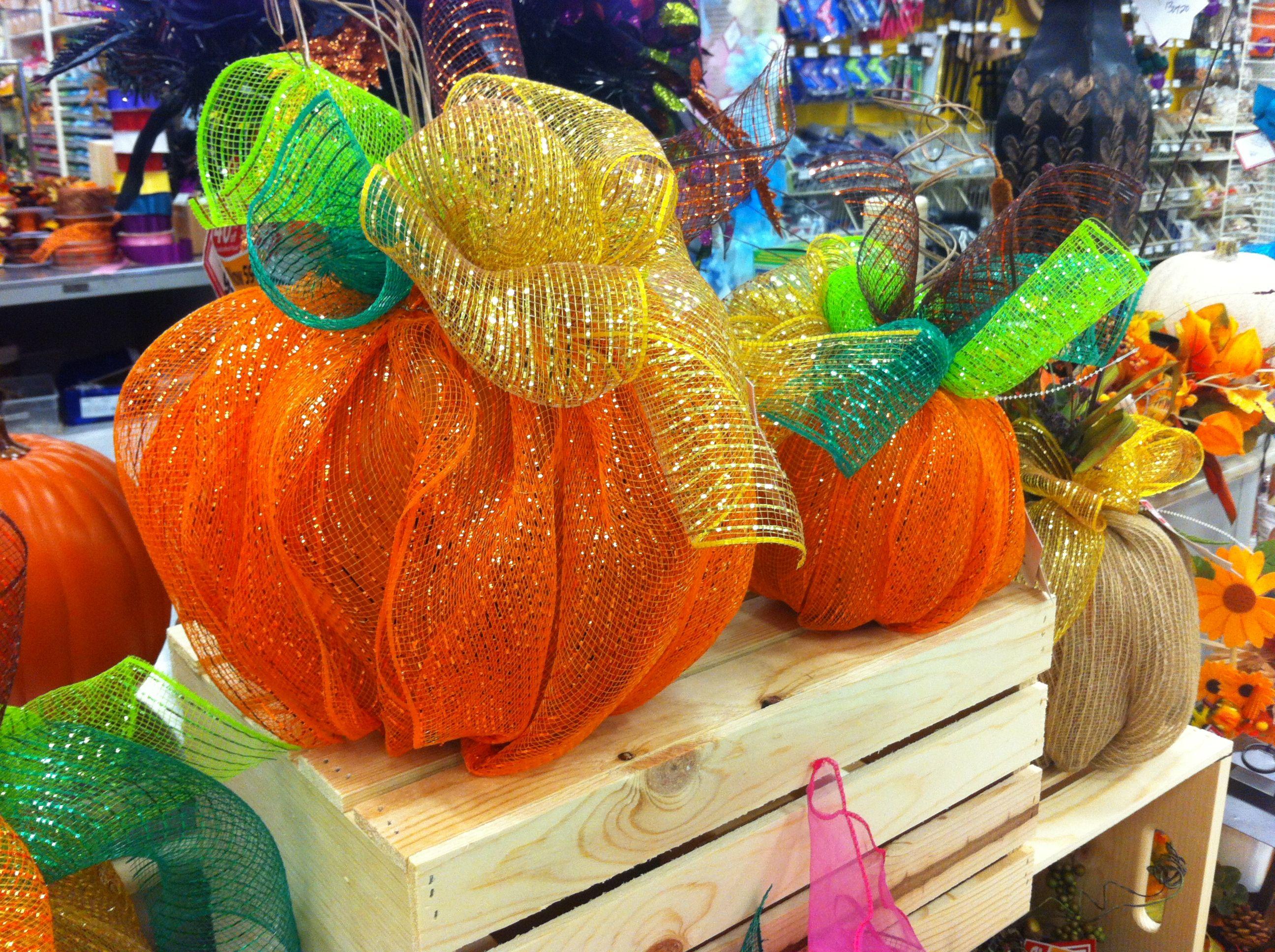 How to store pumpkins - Tulle Pumpkins Plastic Dollar Store Pumpkins Underneath