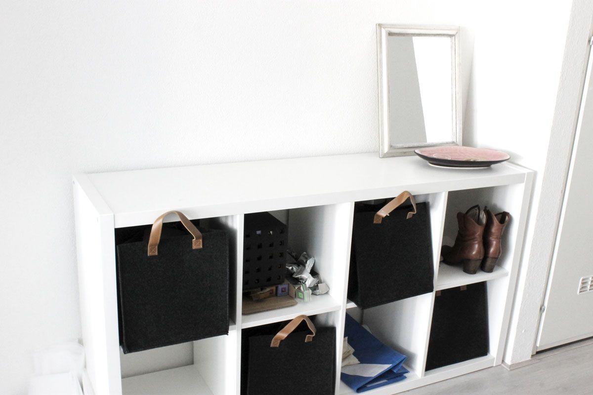 Kledingkast Hangkast Ikea.Ikea Kallax Kast Voor In De Gang Witte Kast Hema Opbergmanden