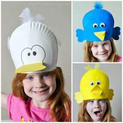 sombreros creativos para niños con material descartable  891f105f1ff