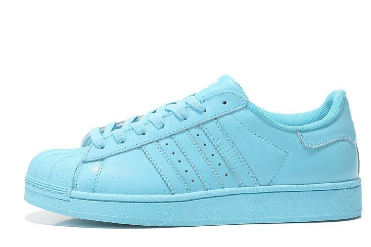 adidas superstar trainers baby blue