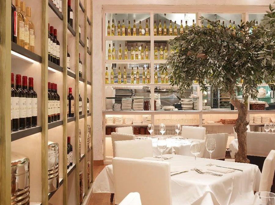 Luxury Modern Mediterranean Restaurant Interior Design Fig ...