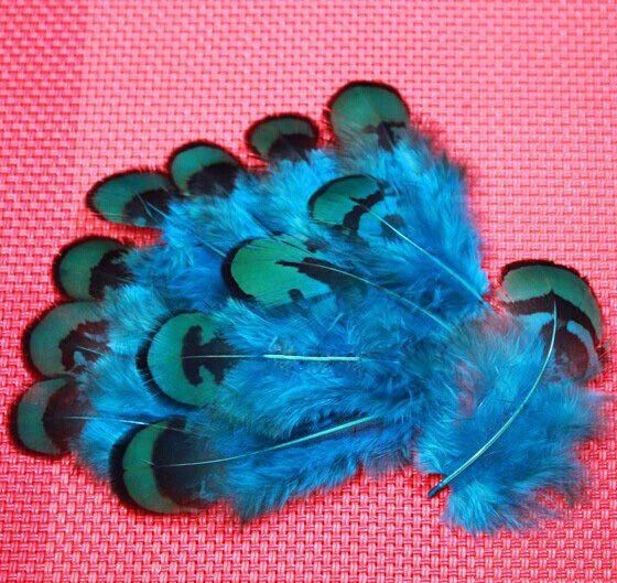 50pcs gros 5-9cm vente royale couleur verte réelle plumes de faisan plumes