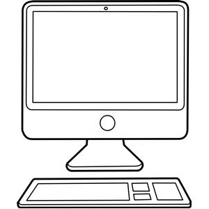 Computer Clipart Black And Clip Art Free Clip Art Image Computer
