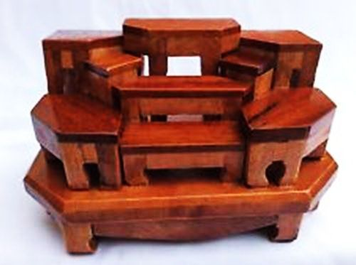 Mini Altar Table Set For 9 Buddha Thai Amulet | Products