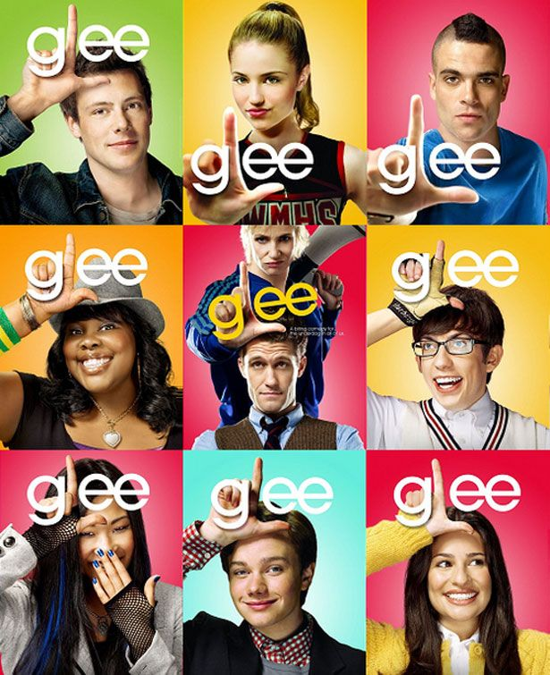 the fonts of popular tv shows movies and tv pinterest glee