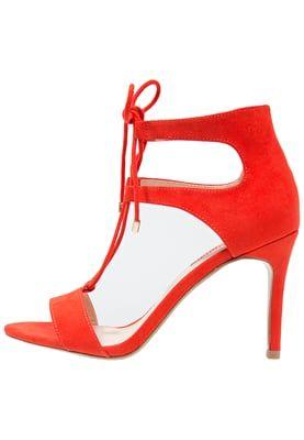SINDY - Sandaalit nilkkaremmillä - red/tomato