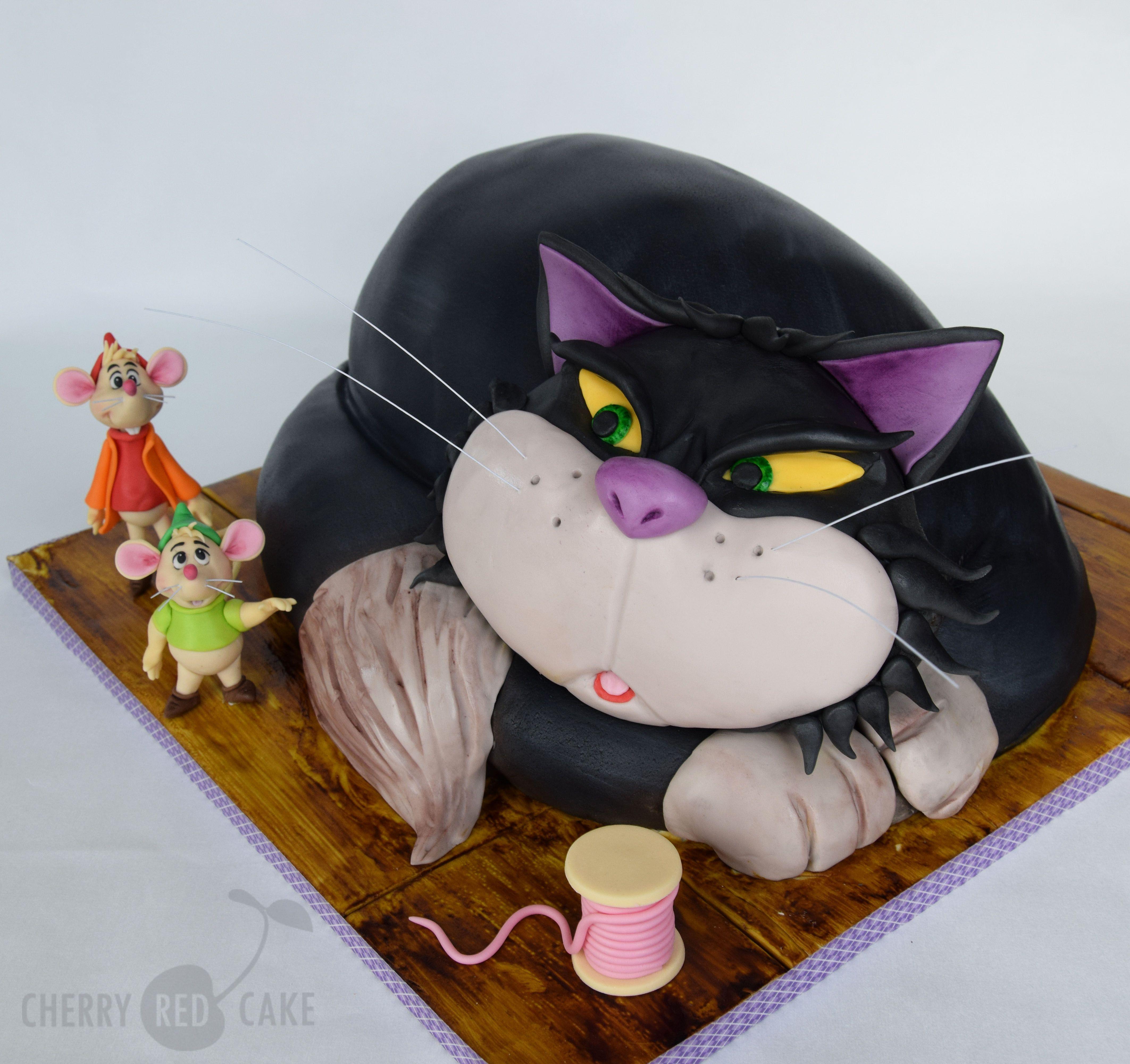 Lucifer Cinderella: Lucifer The Cat Cake