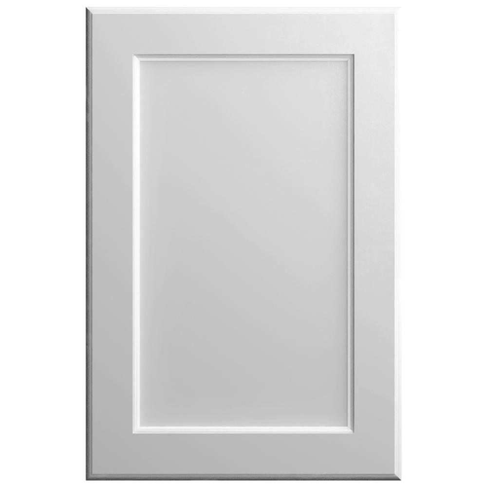 Hampton Bay 11x15 in. Keary Cabinet Door Sample in Bright White