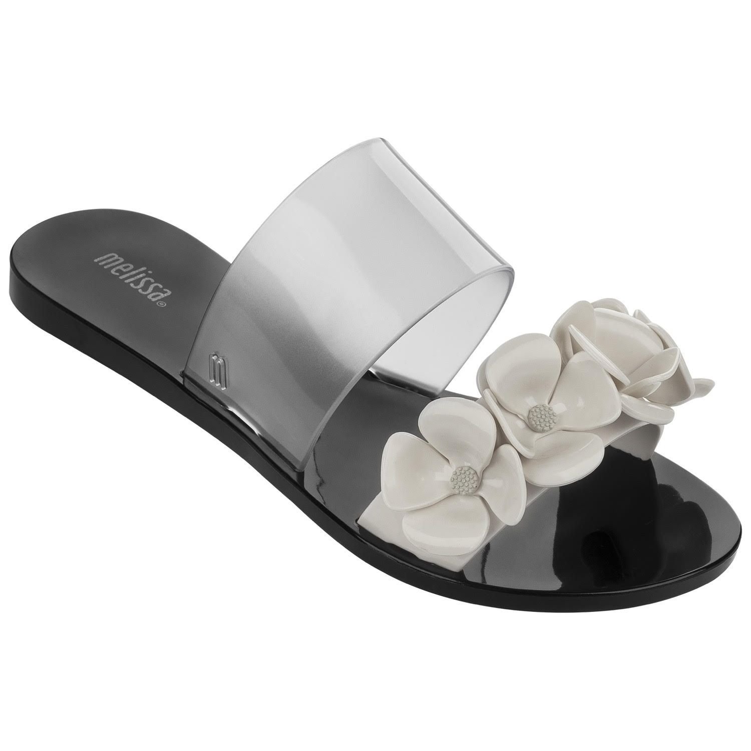 689bedacc943aa Magnificent  Melissa  flower sandals now at  Nicci  NicciSummer15  shoes   love  black    white