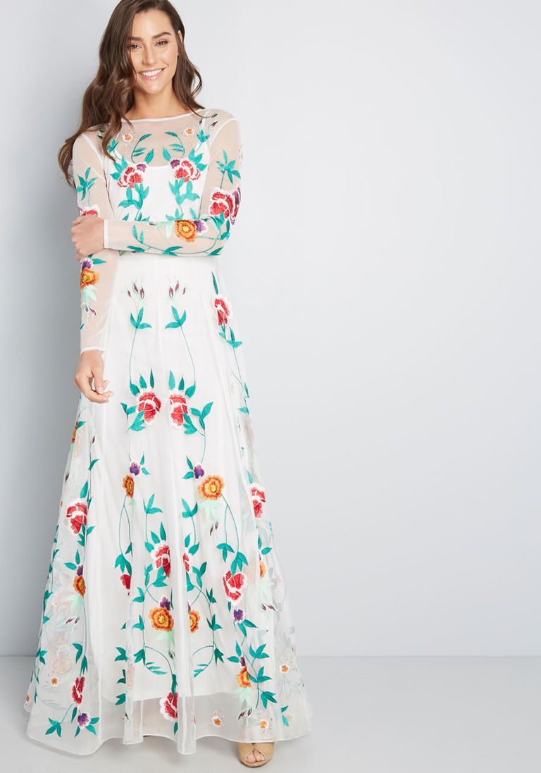 76ad3dfeae6f Growing Adoration Embroidered Maxi Dress in 14 (UK) in 2019 ...