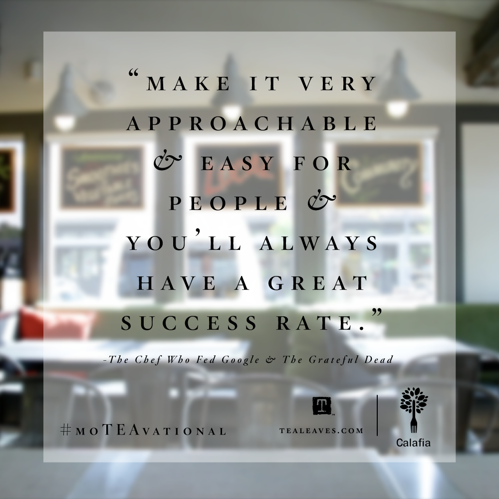 Wise words on running a successful business from Tealeaves ICON Executive Chef Charlie Ayers of Calafia Cafe, the chef who fed Google and the Grateful Dead. Click through to view his video and Mahogany Salmon Marinade tea recipe on folio.tealeaves.com!