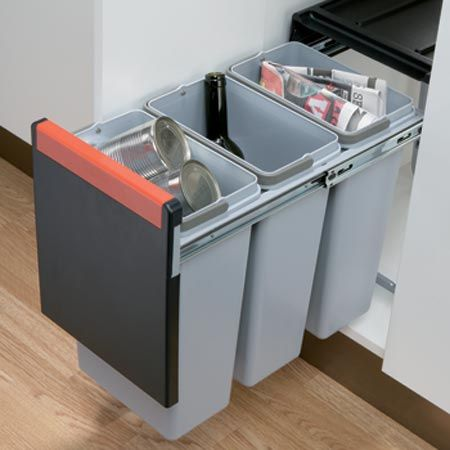Merveilleux Kitchen Cabinet Waste Bins