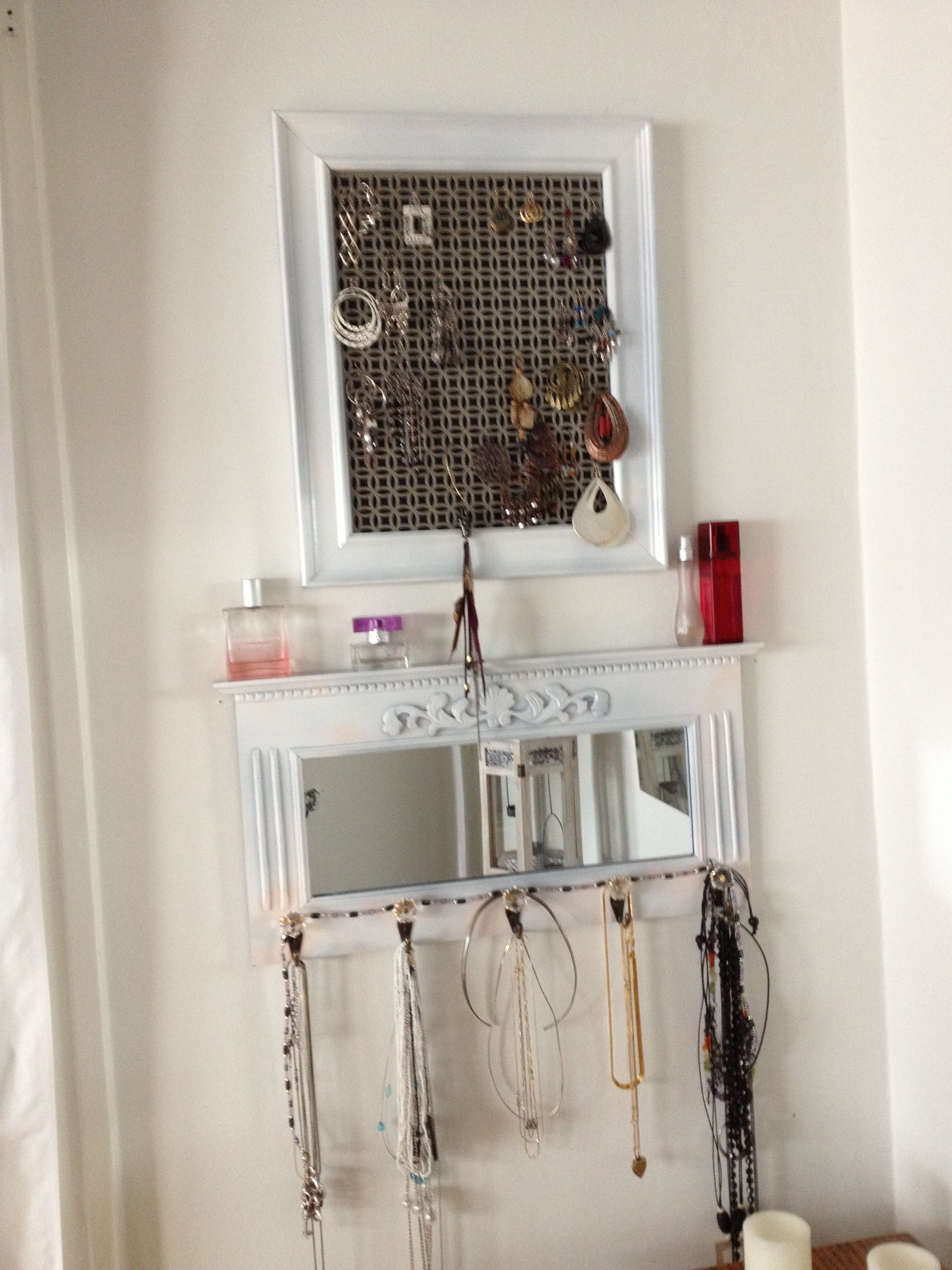 I Finally Organized My Jewelry Wire Mesh From Home Depot In A