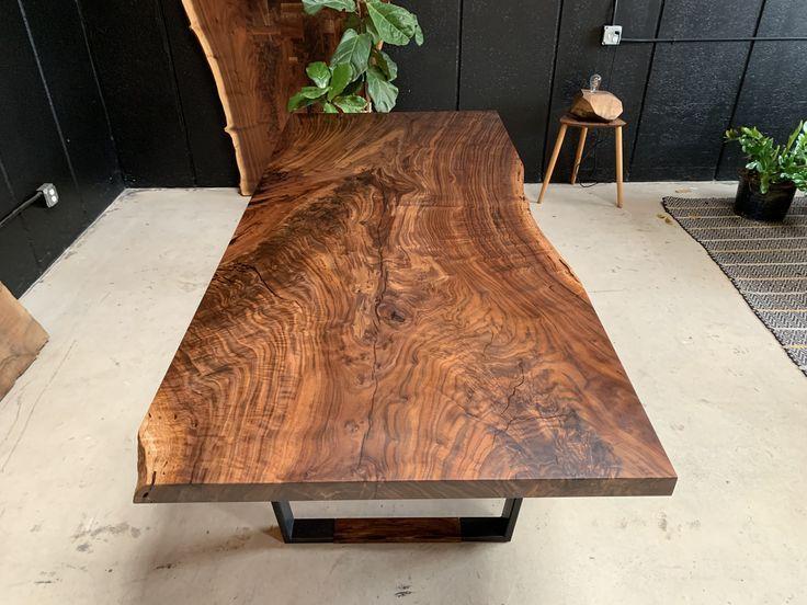 Live Edge Claro Walnut Dining Table 96 Long X 42 Wide Claro